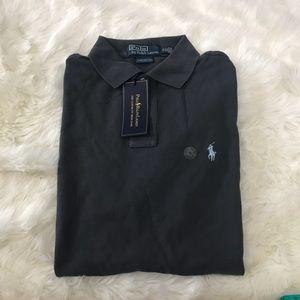 Ralph Lauren Dark Gray Custom Fit Polo Shirt